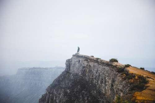 rocks cliff hill highland mountain