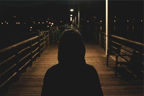 hoodie sweater dark night evening