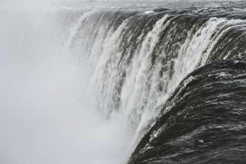 nature water raging waterfalls white