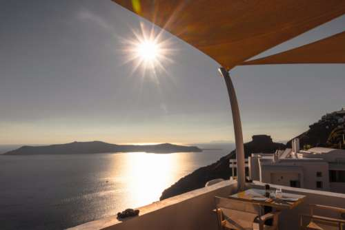 Santorini Greece sun sunset view