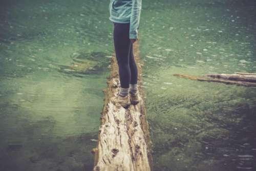 people girl water lake river