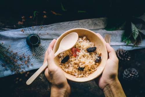 rice bowl topping food breakfast