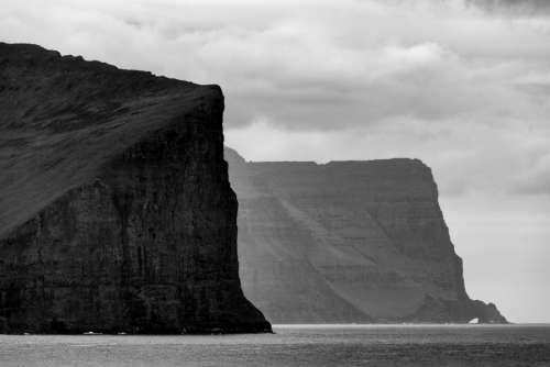 tall ocean cliffs water outdoors