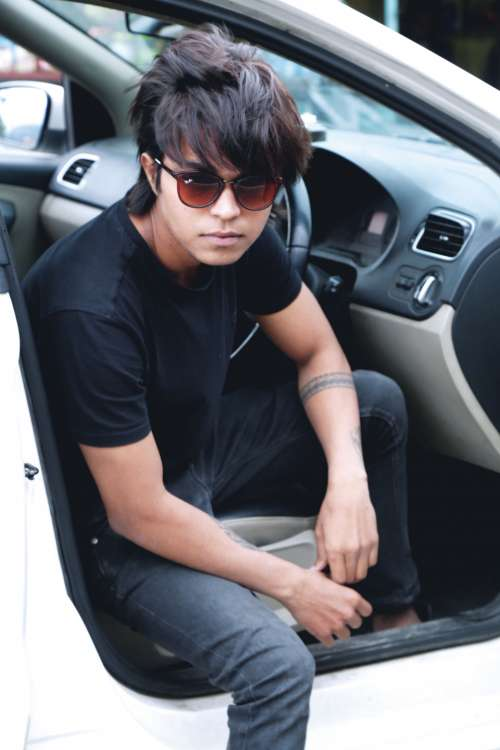car summer handsome fun young