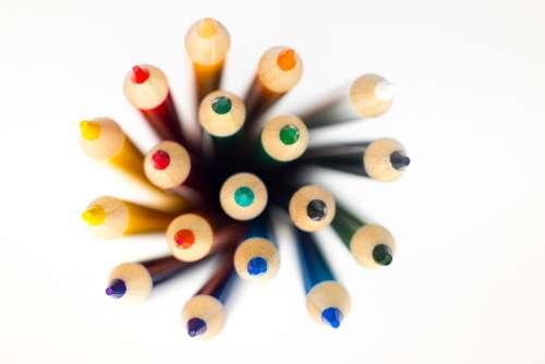 pencil colored pencils pencils standing crayon