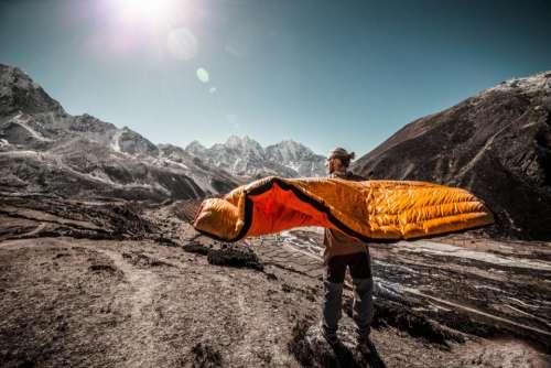 people man travel adventure bed