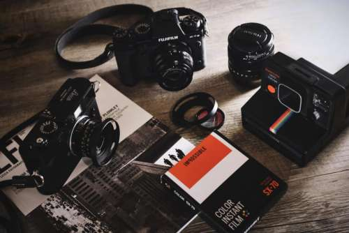 camera lens black photography book