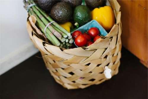 basket groceries vegetables fruits food