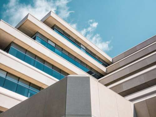 architecture building infrastructure blue sky