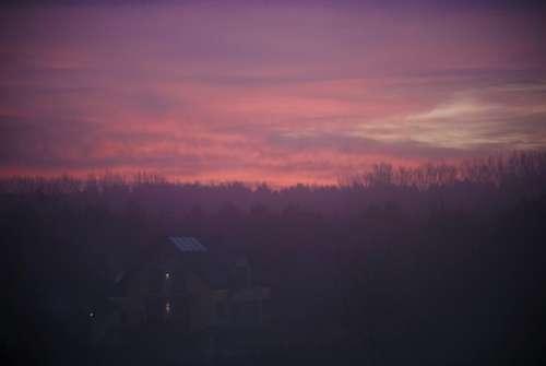 purple pink sunset dusk sky