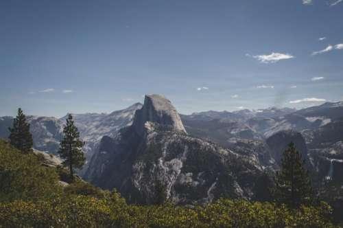 mountains landscape peaks valleys rocks