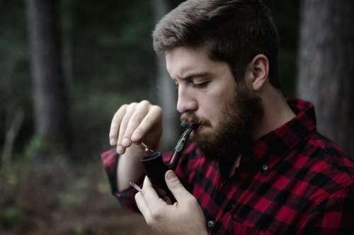 people man guy smoking pipe