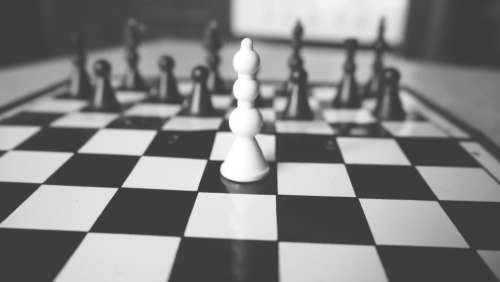 black and white board chess game sport