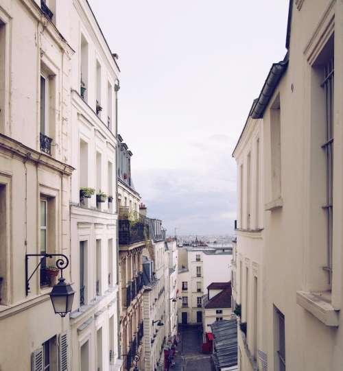 Montmartre Paris France city buildings
