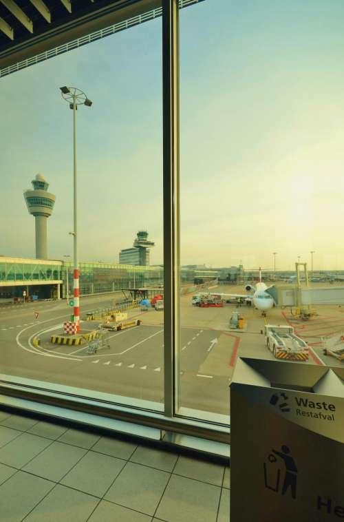 airport airplane travel transportation trip