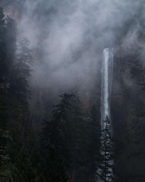 nature water waterfalls altitude forests