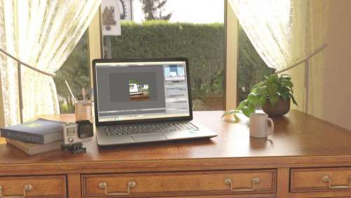 office work business workspace table