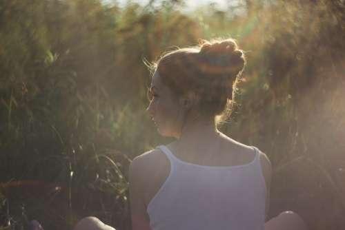 girl woman sunlight sun rays sunshine