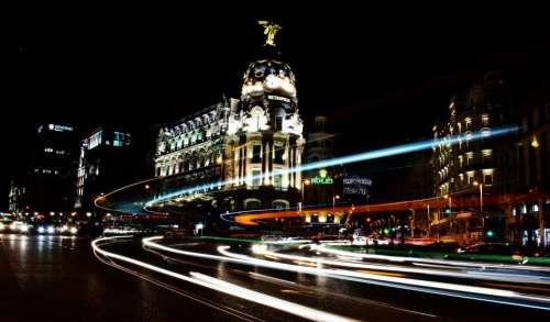 architecture buildings infrastructure lights dark
