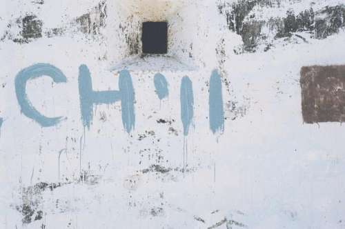 chill white wall paint graffiti