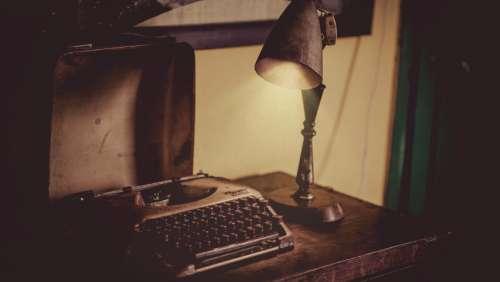 typewriter light lamp vintage retro