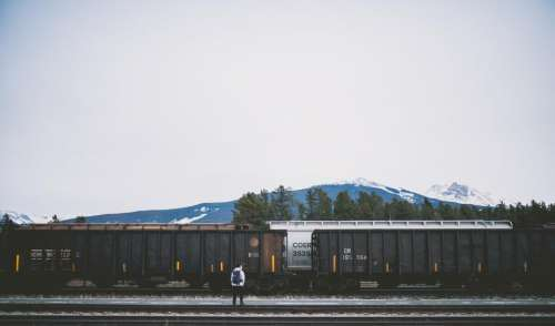 railway track train transportation travel