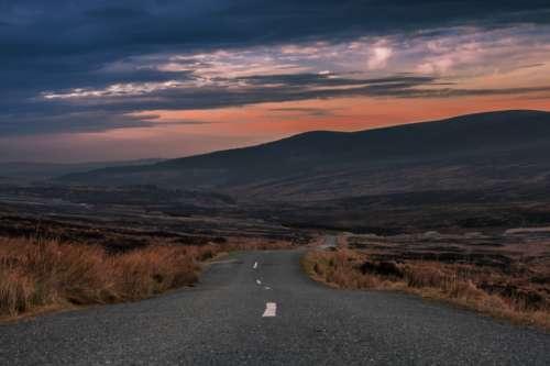rural road landscape destination travel