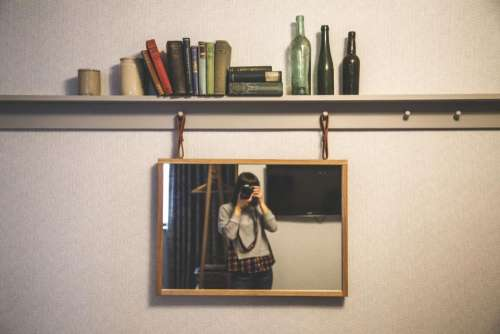 people woman frame camera shutter