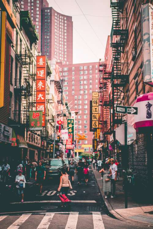 Chinatown New York City street urban city