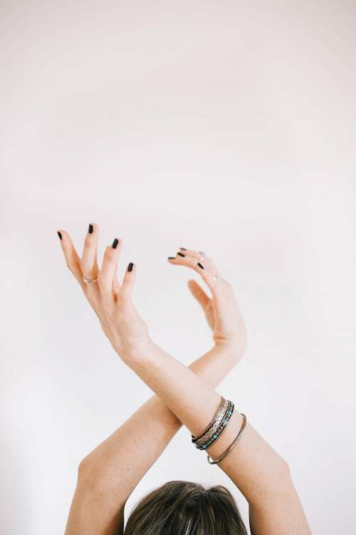 people woman arm bangle bracelet