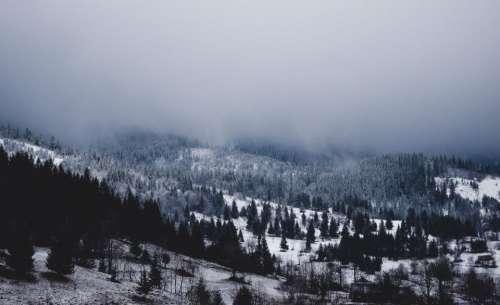 mountain highland cloud fog landscape