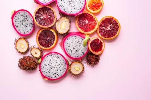 food dragonfruit fruit rambutan fresh