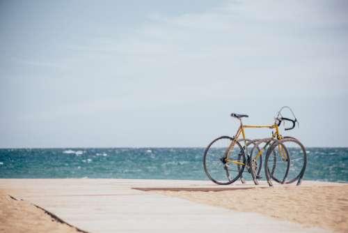 beach boardwalk bike summer ocean