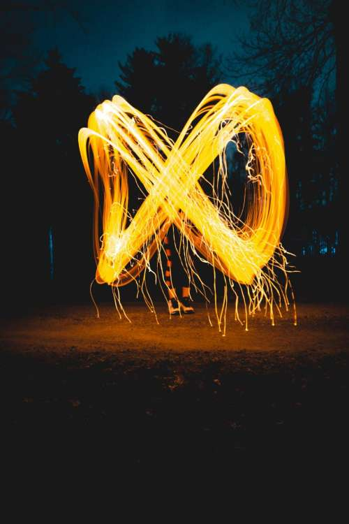 photography infinity light painting nature