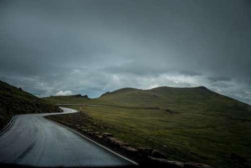 nature landscape mountains slope roads