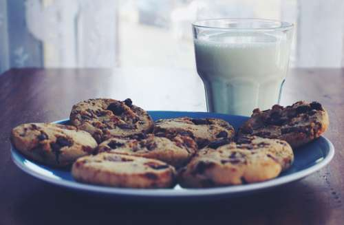 cookies chocolate chip cookies chocolate food milk