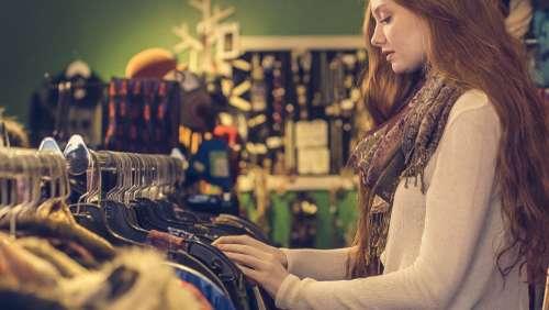 woman shop store clothes buy