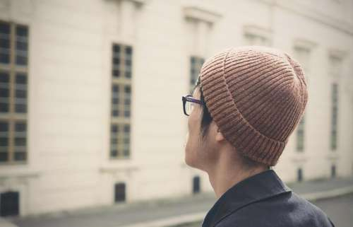 people man guy hat beanie