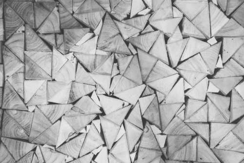 wood triangles patterns black and white