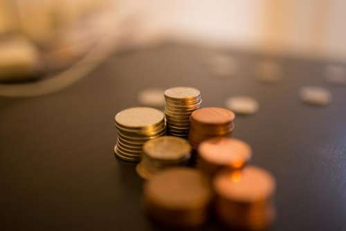 money coins currency business change