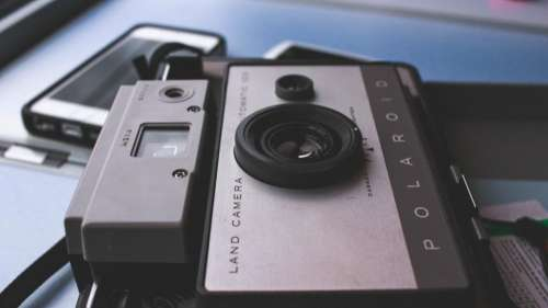 Polaroid camera lens photography vintage