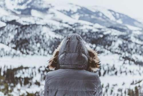 people alone man woman mountain