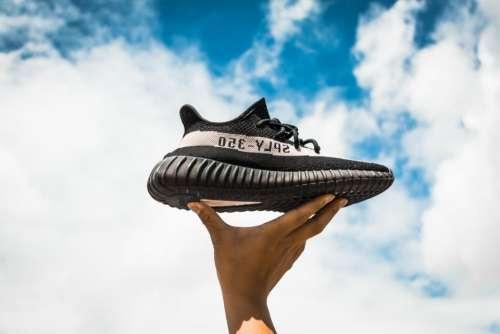 shoe footwear hand palm blue