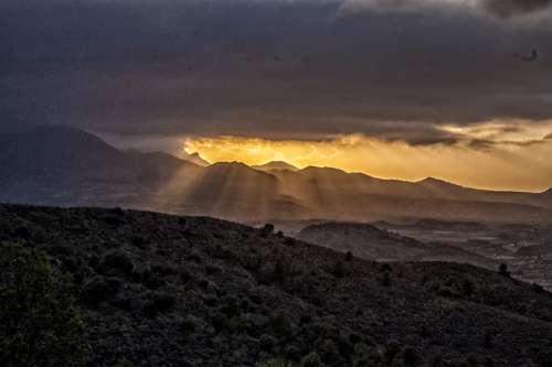 sunset no person landscape sky mountain