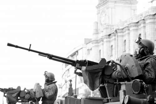 black and white military army gun war