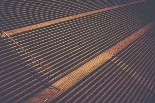 stairs empty bleachers line symmetry