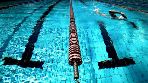 swimming pool water blue athlete