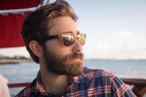 people man shades beard beauty