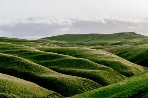 nature green landforms hills sky