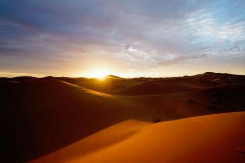 nature dessert sand dunes sun